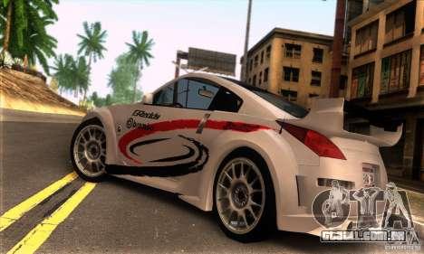Nissan 350Z Tunable para GTA San Andreas vista traseira