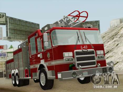 Pierce Arrow LAFD Ladder 43 para GTA San Andreas esquerda vista