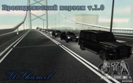 A comitiva presidencial v. 1.2 para GTA San Andreas