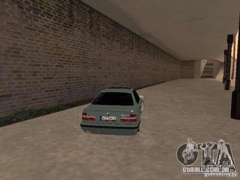 BMW E34 540i V8 para GTA San Andreas traseira esquerda vista
