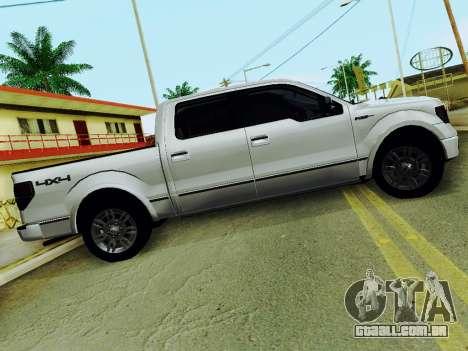 Ford F150 Platinum Edition 2013 para GTA San Andreas esquerda vista
