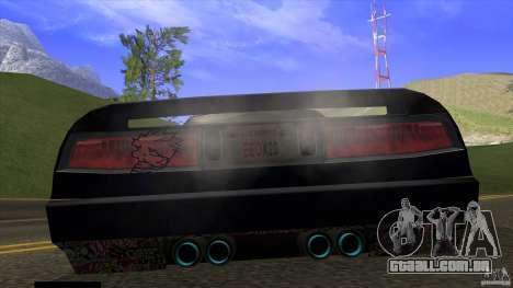 Infernus v3 by ZveR para GTA San Andreas traseira esquerda vista