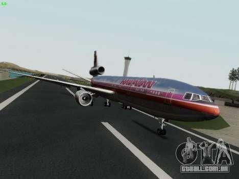 McDonell Douglas DC-10-30 Hawaiian para GTA San Andreas vista direita