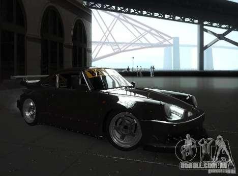 Porsche 911 Turbo RWB para GTA San Andreas traseira esquerda vista