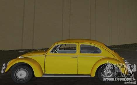 Volkswagen Beetle 1963 para GTA Vice City vista traseira esquerda