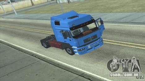 Man F2000 para GTA San Andreas esquerda vista