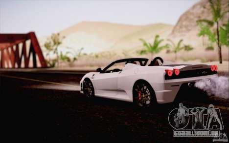 Ferrari F430 Scuderia Spider 16M para GTA San Andreas vista interior