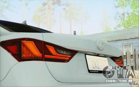 Lexus GS 350 F Sport Series IV para GTA San Andreas vista superior