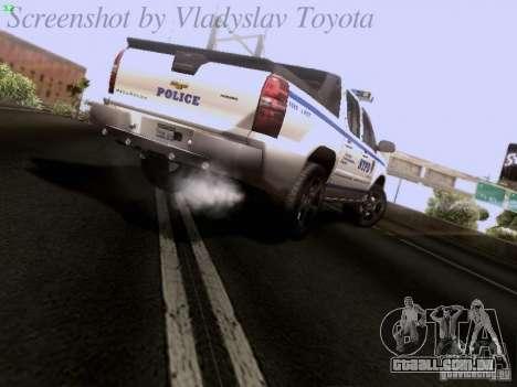 Chevrolet Avalanche 2007 para GTA San Andreas traseira esquerda vista