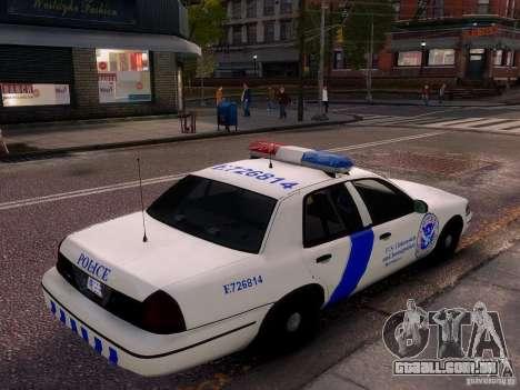 Ford Crown Victoria Homeland Security para GTA 4 vista lateral