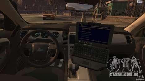 Ford Taurus Police Interceptor 2010 ELS para GTA 4 esquerda vista