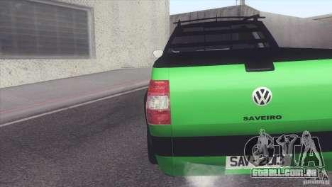 Volkswagen Saveiro 2013 para GTA San Andreas esquerda vista