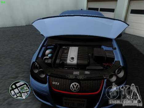 Volkswagen Golf V R32 Black edition para GTA San Andreas vista traseira