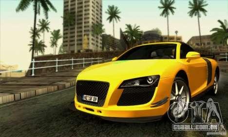 Audi R8 Spyder Tunable para GTA San Andreas interior