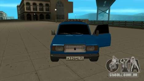 VAZ 2107 Ford para GTA San Andreas vista direita