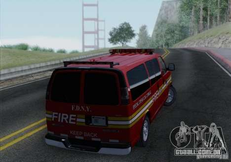 Chevrolet Express Special Operations Command para GTA San Andreas vista direita
