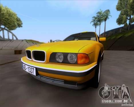 BMW 730i E38 1996 Taxi para GTA San Andreas esquerda vista