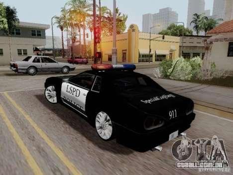 Elegy Police LS para GTA San Andreas esquerda vista