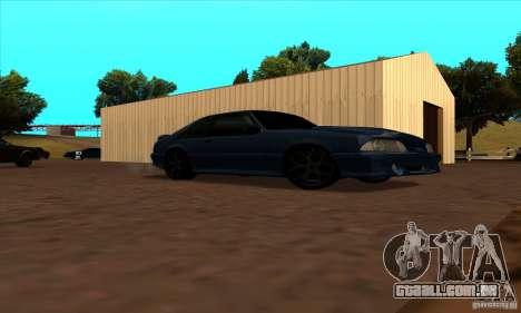 Ford Mustang SVT Cobra 1993 para GTA San Andreas vista interior