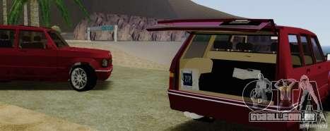 Huntley Freelander para GTA San Andreas vista traseira