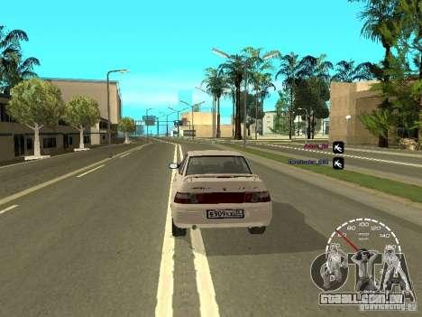 Velocímetro Lada Priora para GTA San Andreas terceira tela