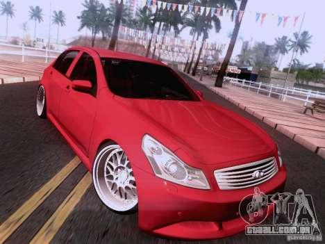 Infiniti G37 Sedan para as rodas de GTA San Andreas