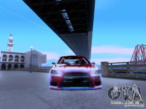 Mitsubishi Lancer Evolution X v2 Make Stance para GTA San Andreas vista traseira