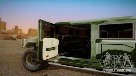 HD Patriot para GTA San Andreas vista traseira