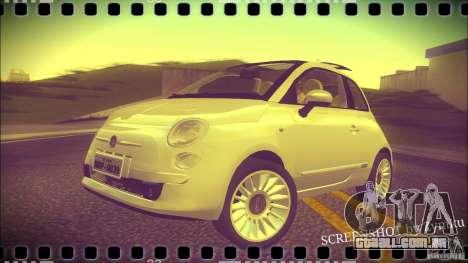 Fiat 500 Lounge 2010 para GTA San Andreas