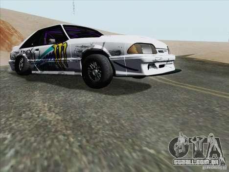 Ford Mustang Drift para GTA San Andreas esquerda vista