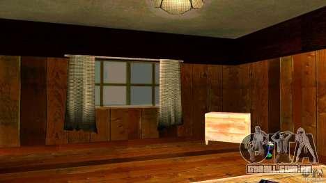 Novas texturas para a casa de CJ para GTA San Andreas por diante tela