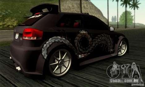 Audi A3 Tunable para GTA San Andreas vista superior