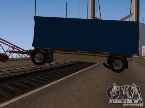 Trailer de homem TGA 28430 PALIFT para GTA San Andreas esquerda vista