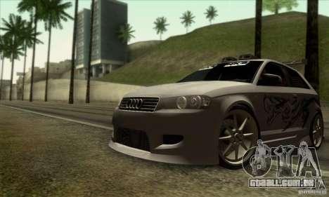 Audi A3 Tunable para GTA San Andreas vista inferior