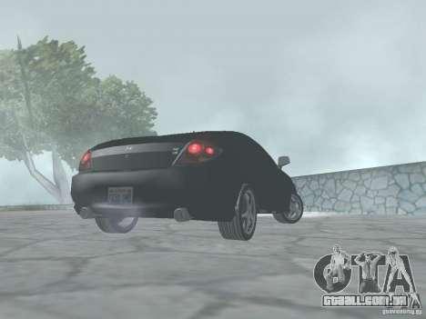 Hyundai Tiburon GT para GTA San Andreas traseira esquerda vista