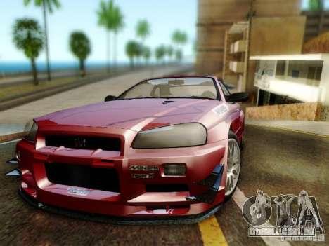 Nissan R34 Skyline GT-R para GTA San Andreas vista traseira