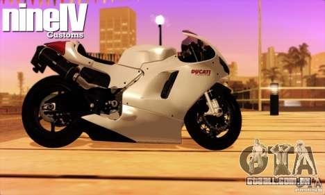 Ducati Desmosedici RR 2012 para GTA San Andreas traseira esquerda vista