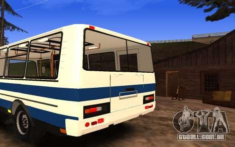 PAZ 3205 para GTA San Andreas vista interior