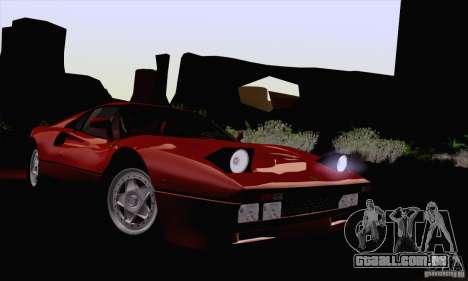 Ferrari 288 GTO 1984 para GTA San Andreas vista traseira