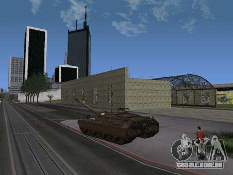 Pt-SAU T95 para GTA San Andreas traseira esquerda vista