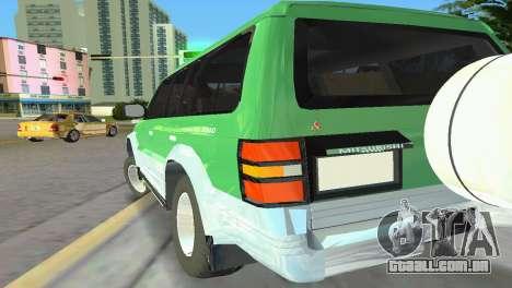 Mitsubishi Pajero 1993 para GTA Vice City vista traseira