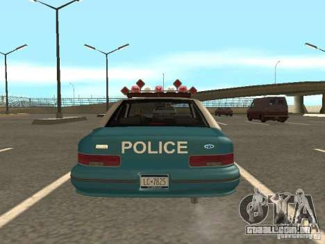 HD Police from GTA 3 para GTA San Andreas vista interior