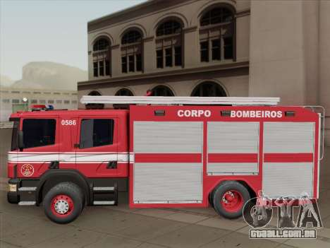 Scania 94D-260 Corpo Bombeiros SP para GTA San Andreas vista inferior