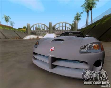 Dodge Viper SRT-10 Coupe para GTA San Andreas esquerda vista