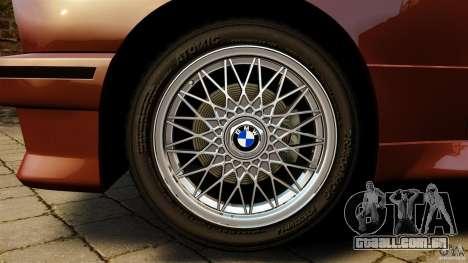 BMW M3 E30 Stock 1991 para GTA 4 vista de volta
