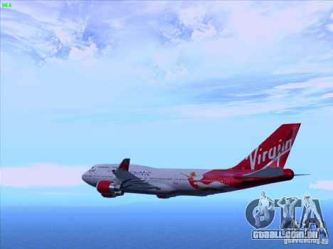 Boeing 747-4Q8 Lady Penelope para GTA San Andreas esquerda vista