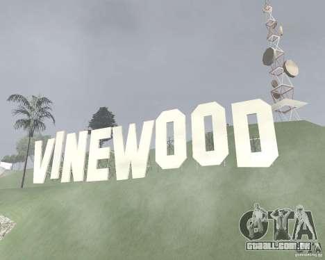Área restrita Vinewood para GTA San Andreas