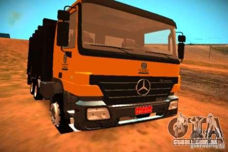 Mercedes Benz Actros Basura IM Santiago para GTA San Andreas esquerda vista