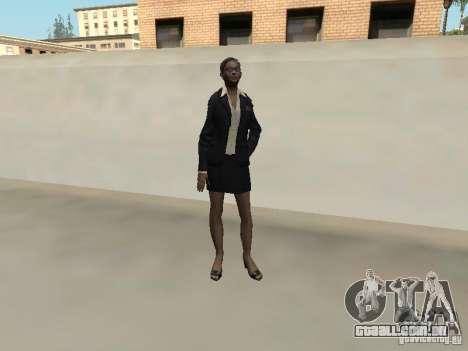 FBI feminino pele para GTA San Andreas por diante tela