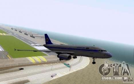 Airbus A-319 Azerbaijan Airlines para GTA San Andreas vista superior